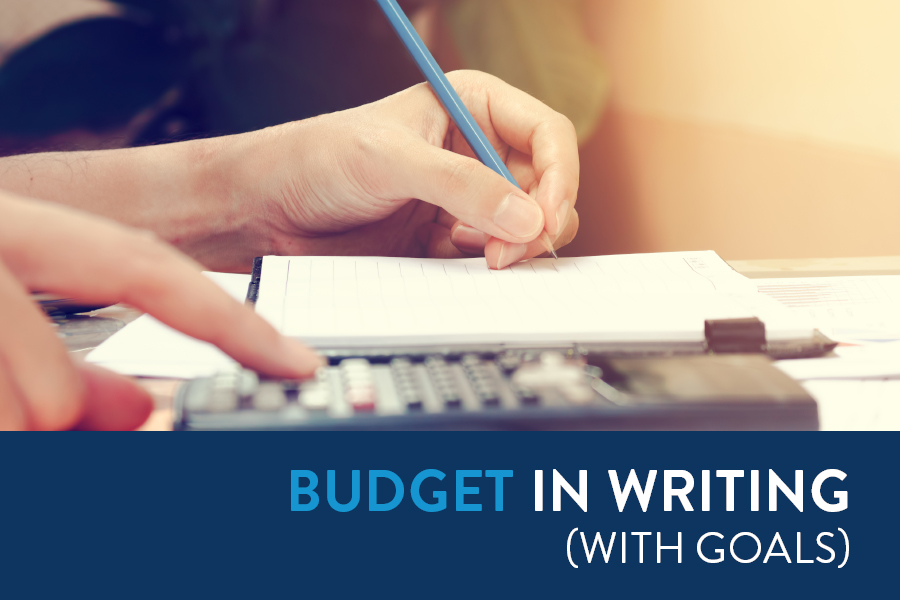 setting up a budget to get out of debt